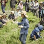 Yoshikazu Kawaguchi gives a lecture at his Open Farm School in Nara, Japan (Photo: P.M. Lydon | FInal Straw)