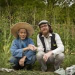 Final Straw Director Patrick Lydon with natural farmer Yoshikazu Kawaguchi at his farm in Nara, Japan (Photo: Kaori Tsuji)
