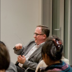 Chris Fremantle leads a Panel Discussion at opening night of the Final Straw exhibition, November 26, 2013 at Edinburgh College of Art.