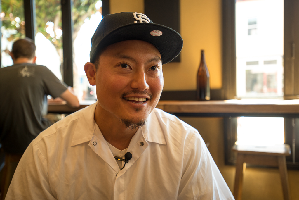 Chef Dennis Lee at Namu Gagi, San Francisco