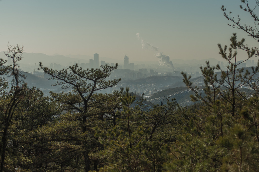 Disgeotic: Seoul, South Korea from the mountains (photo: P.M. Lydon)