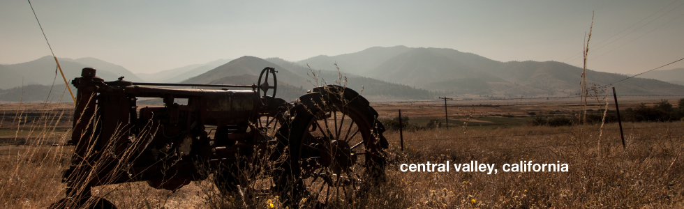 Abandoned tractor in California's Central Valley (photo: P.M. Lydon, Final Straw)