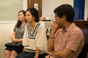 Feedback session at Space Noah in Seoul, Korea