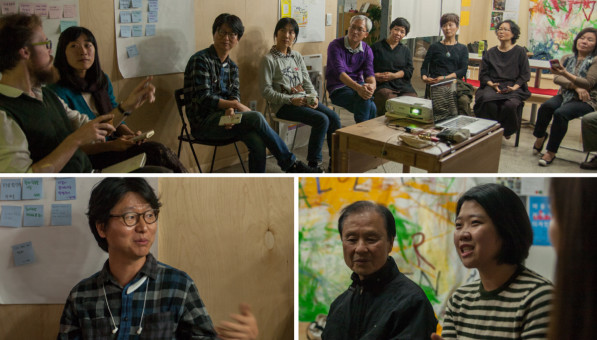 Post screening group discussion at Value Garden in Seoul