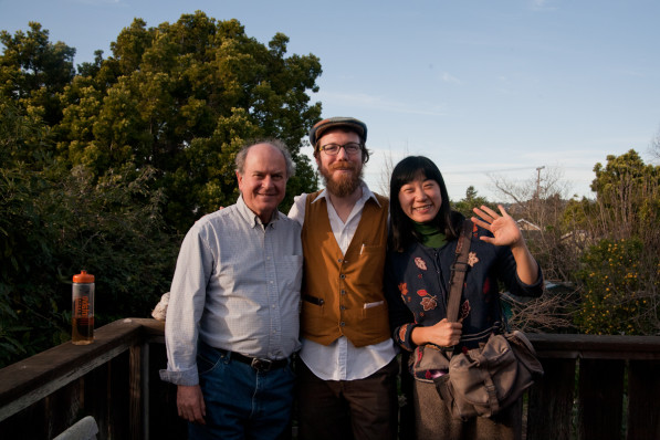 Patrick and Suhee with Larry Korn