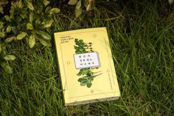 불안과 경쟁 없는 이곳에서 (Title roughly translates to: Without Anxiety or Competition) a book by Suhee Kang and Patrick Lydon, published by Yeolmaehana, Seoul, South Korea